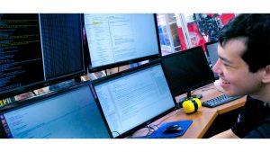 Computer Scientist Working