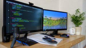 Game Developer Working